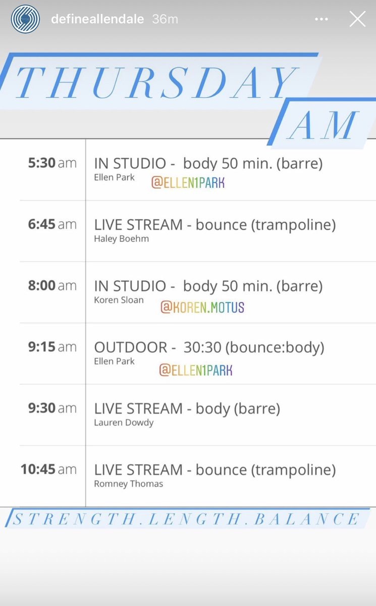 Hello Thurs! Indoor & outdoor classes. Sign up now. Stronger together! https://t.co/gDuEmBsF0X #spin #yoga #barre #fitness #exercise #Bounce #momlife #teacher #running #Mindfulness #Stretching #workout #Lululemon #runners #cardio  #health #streaming #gym #cycle #healthylifestyle https://t.co/r7ih9zS1na