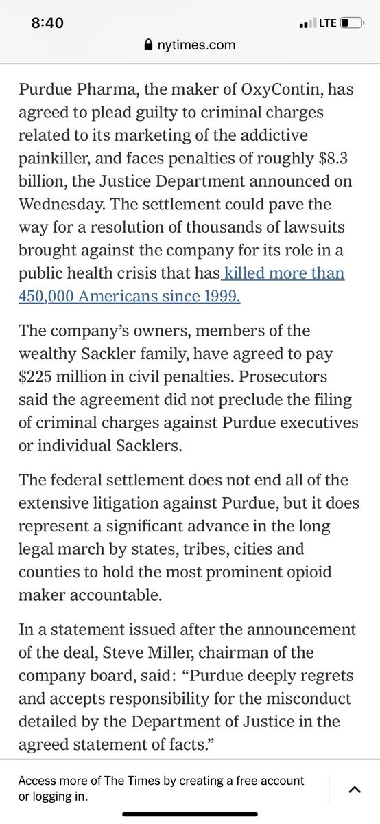 they pulled off the greatest scandal in American history. Tell me how else 450,000 died in 20 years? They should make them give names of government people who made this possible-FDA, bribes,  a public hearing so we can hear the truth #opioid #addiction #recovery #NotAnotherKyle https://t.co/EJG6xHDxru