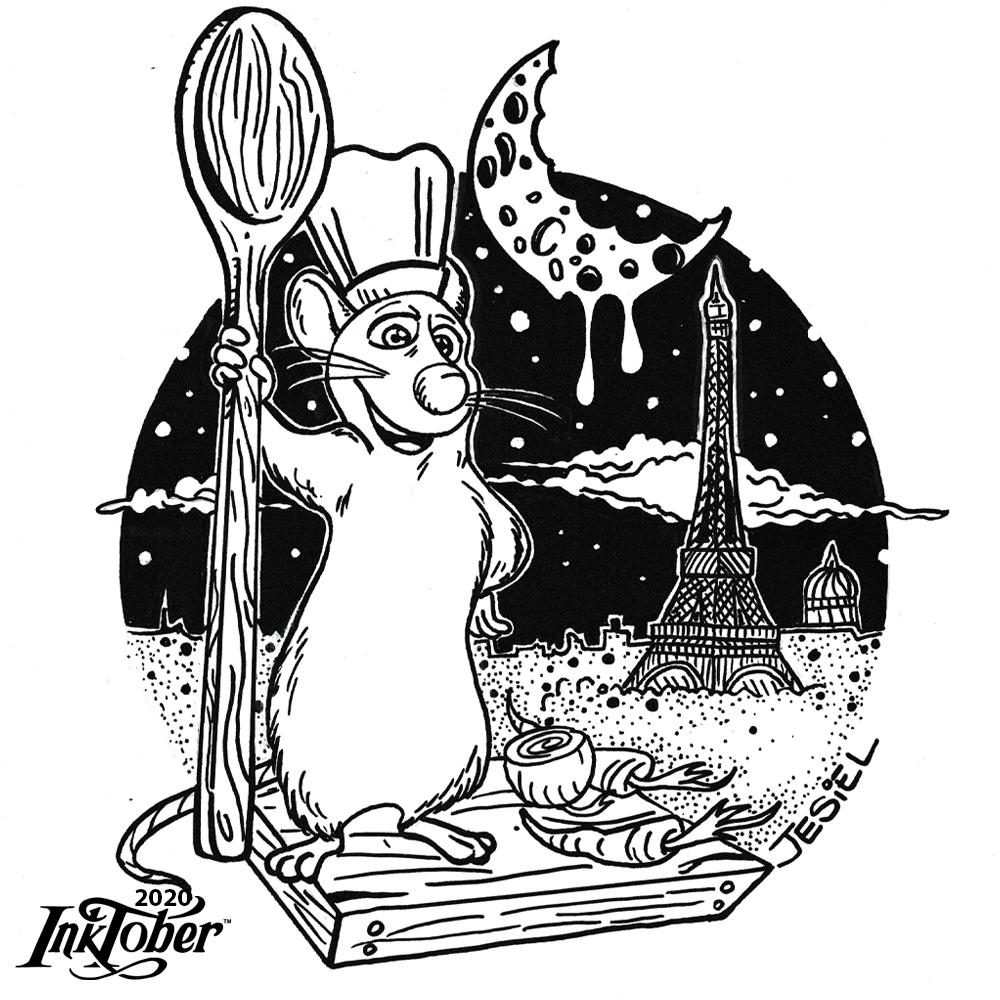 Desafio Inktober2020 - Dia 22 Tema: Chef #inktober #inktoberday22 #inktober2020 #chef #inktober2020chef #arte #illustrator #illustration #sketch #drawing #sketchbook #InktoberComBIC #desafiobic #Day22 #art #pencilart  #inktoberlist2020 #desenho #draw #artes #desenhos #Ratatouille https://t.co/eGqOPRLeFp