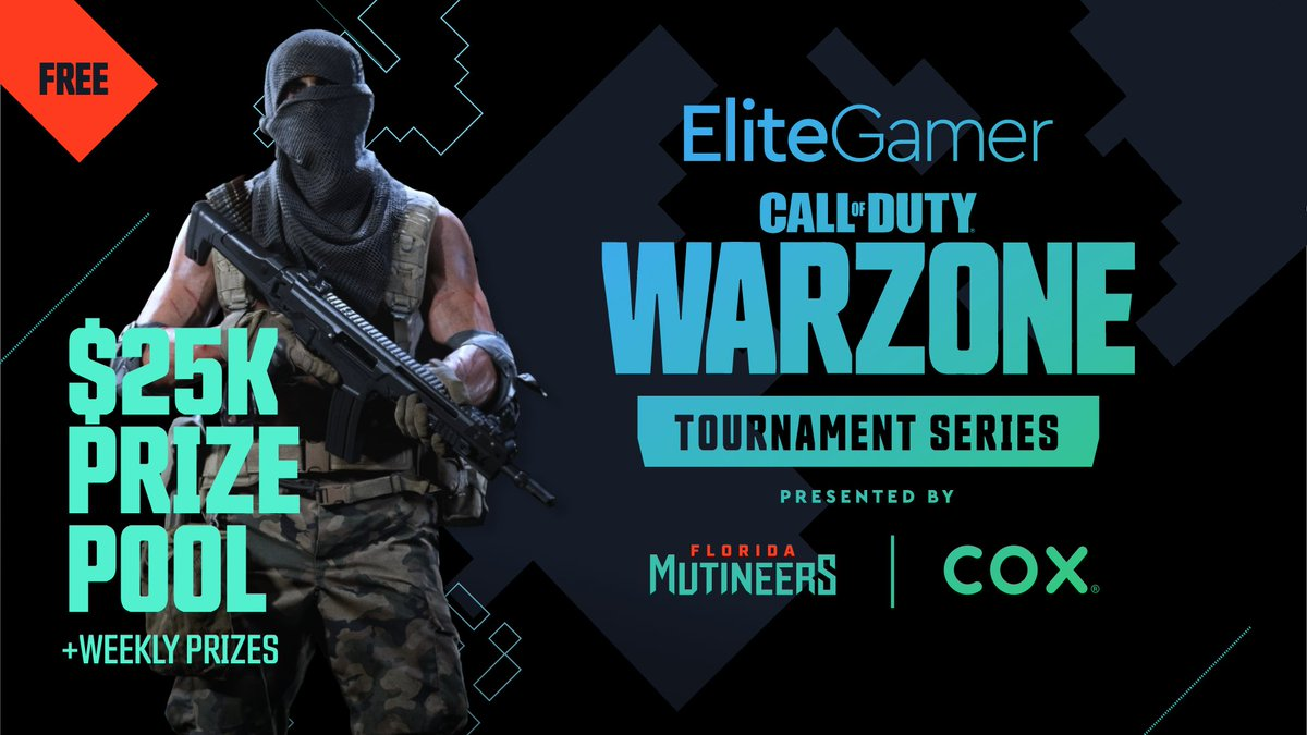 The #EliteGamer Warzone Tournament Series Qualifier #3 is live! Find out which duos will earn their shot at $25,000. 🪂 twitch.tv/flmutineers