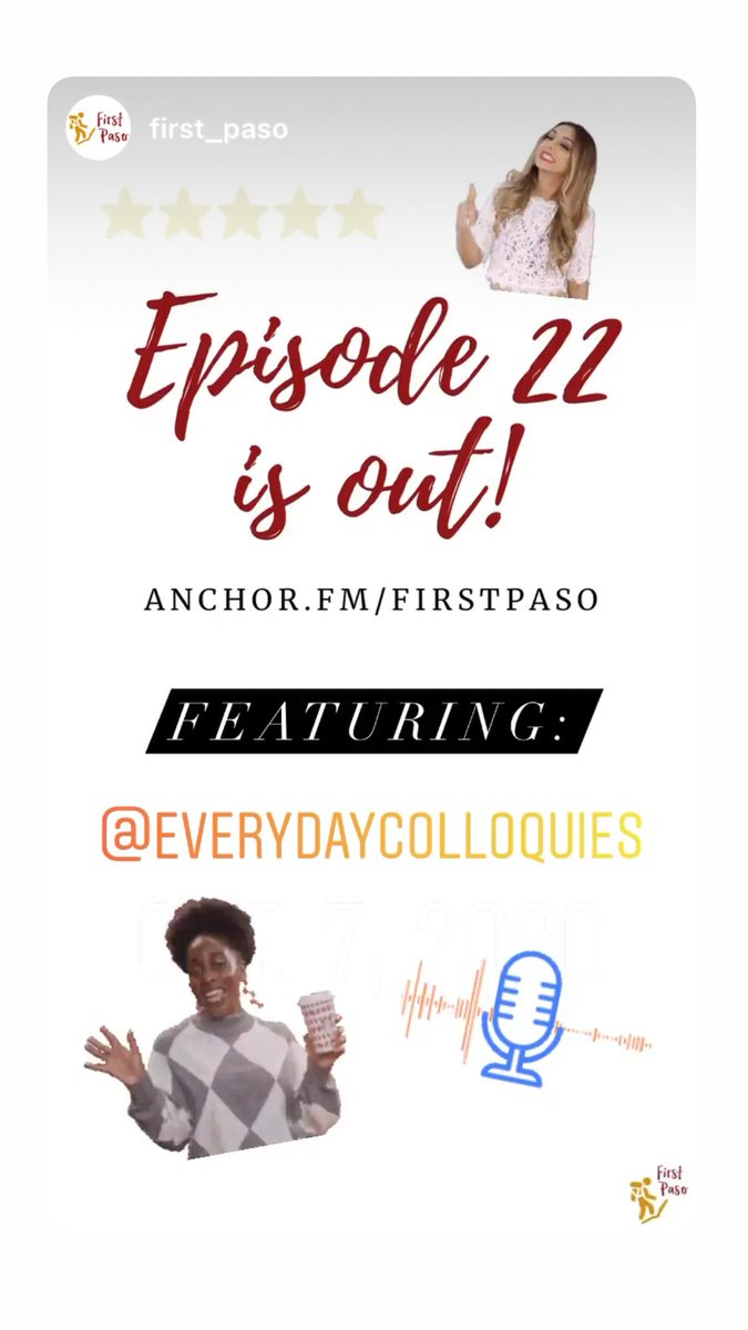 E22 is out! Go to https://t.co/Hkm29dSy71 to listen! #FP #FirstPaso #Podcast #Podcasts #Podcasting #Podcastlife #Podcaster #BlackOwnedBusiness #Anchor #Podbean #Spotify #ApplePodcasts #Castbox #GooglePlayPodcasts #iHeartRadio #Overcast #PocketCasts #PodcastAddict #Stitcher https://t.co/9fSZqmYppI