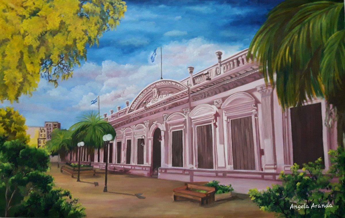 Casa de Gobierno Oleo sobre lienzo Autor: Angela Aranda Tamaño: 1,10m × 0,70m Año: 2020  #Misiones #Arte #cultura #pintura #Argentina #cuadro #óleo https://t.co/Cpn7xf1ljJ