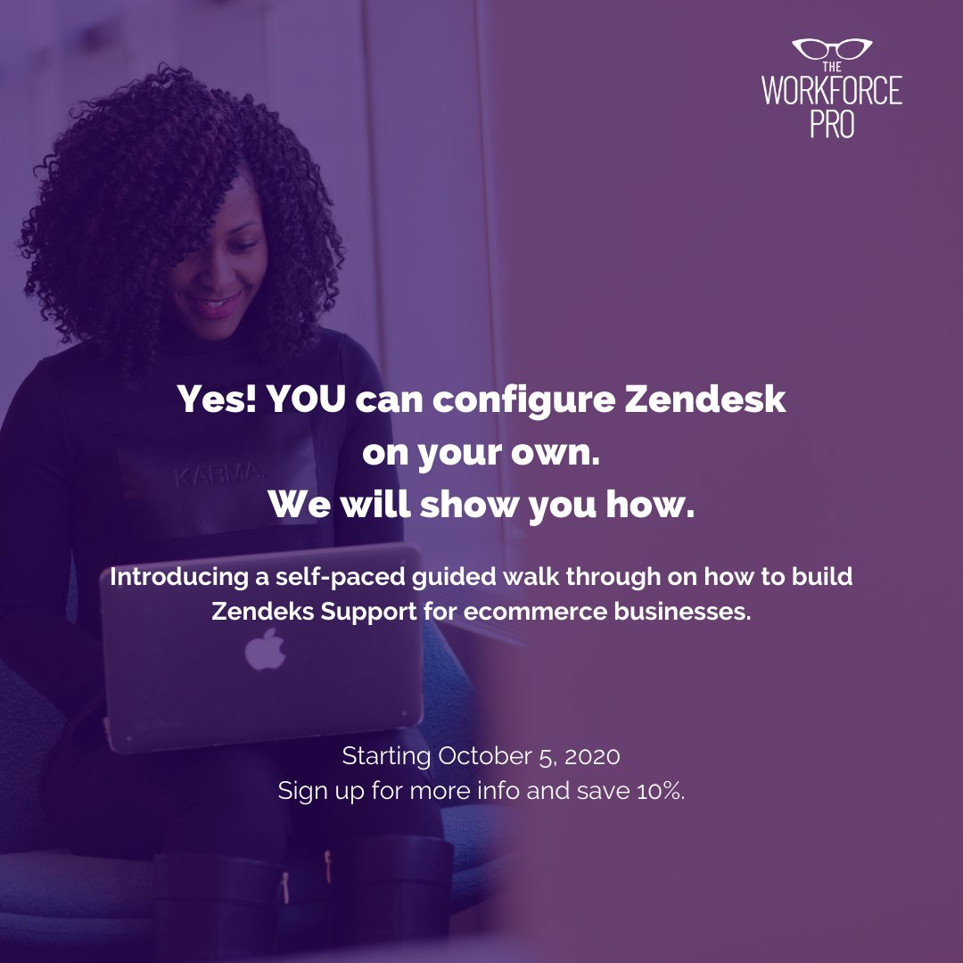 You've already paid for #zendesk... you just need to know the best way to build it out for your #ecommerce company... We will show you how. #affordable #simple #fast #learn #support #cx #theworkforcepro  https://t.co/RHstcMwOu2 https://t.co/uvyaFJbhUy