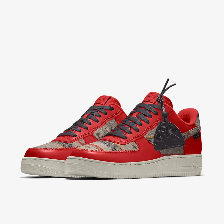 Nike by You AF1 Pendleton Options now include Chiefs Red   Shop here https://t.co/xO8oYYnfLm  #nikebyyou #nike #deadlaced #aF1 https://t.co/QVebWcnZAy