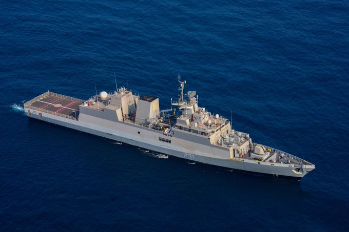 """The #IndianNavy will commission """"INS Kavaratti"""" today, the last of four indigenously built, Project 28 Kamorta class, Anti-Submarine Warfare  #Indian Army Chief General Manoj Mukund Naravane will commission the ship at the Naval Dockyard at Visakhapatnam https://t.co/eye6M4TFcV"""