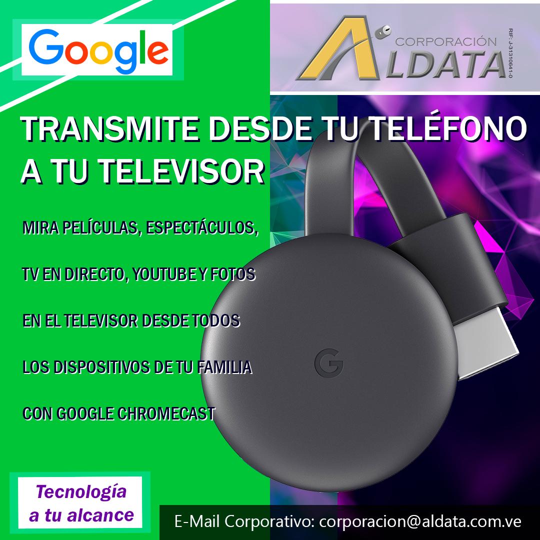 CHROMECAST GOOGLE STREAMING MEDIA PLAYER 3RA GEN GA00439-US $ 49,00 GA00439-CL $ 45,00  𝐆𝐀𝐑𝐀𝐍𝐓𝐈𝐀: 12 meses  #corporacionaldata #google #Chromecast #streamingdevice #hd #tv #netflix #hdmi #entretenimiento https://t.co/TSFDy2aqBR