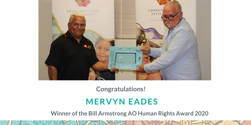 We are delighted to announce the winner of the Bill Armstrong Human Rights Award is Mervyn Eades!  Mervyn has been recognised for his work in leading the way for prison reform in Western Australia. Read more about his amazing work: https://t.co/tdXVK6ucAo   #Award #HumanRights https://t.co/yel1TY0Erp