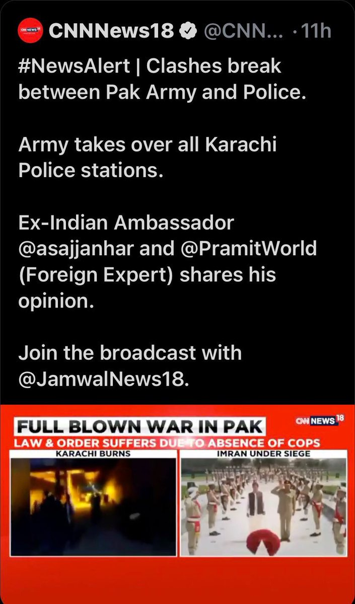 """#CNN's  #Indian affiliate's """"news"""" of #CivilWarInKarachi gives credence to #Trump calling the #US news network #FakeNews! https://t.co/Ga39zzVtjW"""