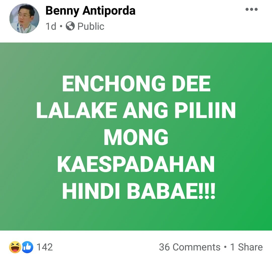 Benny Antiporda, the unqualified DENR Usec, is at it again. 🙄 https://t.co/1hmjuaMMnz