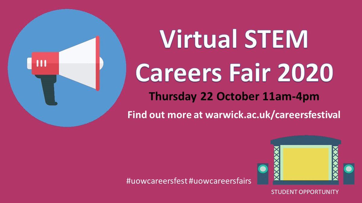Virtually come along to the STEM Careers Fair taking place TODAY! Find out how to attend and download the app now https://t.co/HSTFHHYKHt #uowcareersfest #uowcareersfairs #uowstemfactory https://t.co/57vWcDMcmJ
