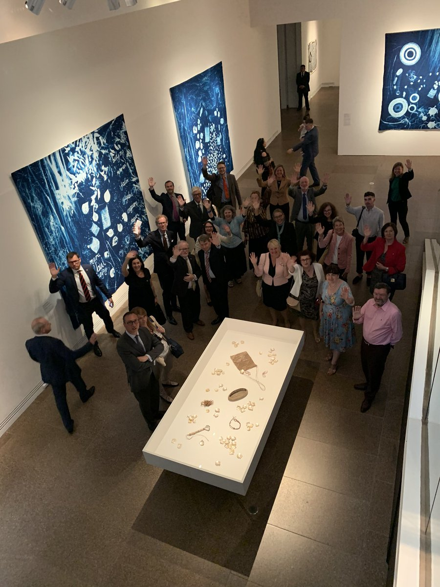 Next stop for European Heads of Mission - @agsa_adelaide to view Tarnanthi Exhibition as well as the wonderful galleries in the heart of Adelaide which has been so generous & welcoming to #EU delegation. Thanks @sagovau! https://t.co/F3pynsGHuS
