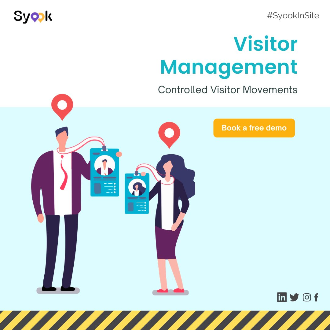 Syook Visitor #Management System is designed to #monitor the #movement of #visitors within any #facility of an #organization to ensure that visitor movement is #restricted.  Book a free demo at https://t.co/eusEiitHk7  #rtls #iot #iiot #rfid #PeopleTracking #FactoriesOfTheFuture https://t.co/H6VIm4Rbqh