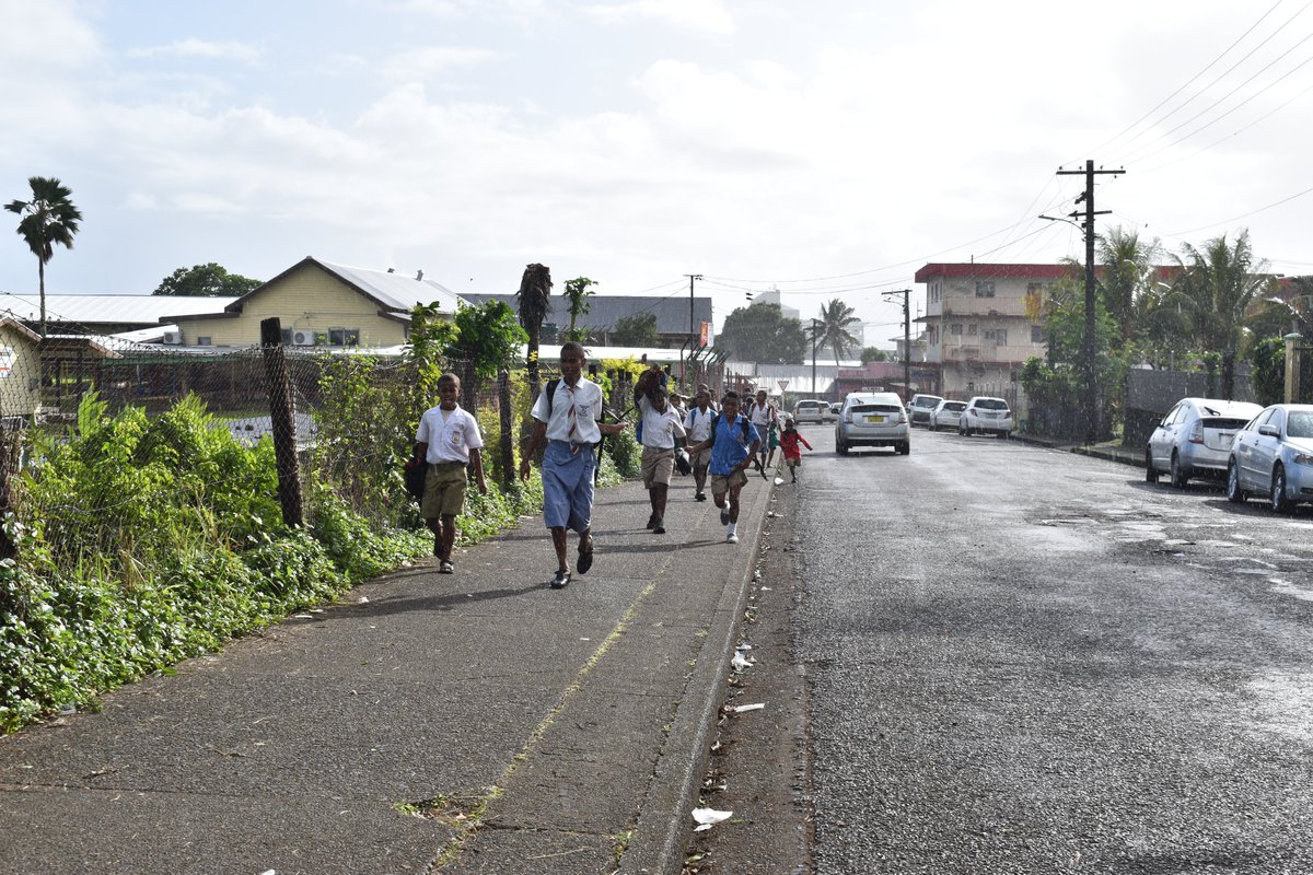 Our first school is at home.  We urge parents to teach their children how to cross and where it is safe to cross the road. Show them the safest way to and from school.  Road safety is everyone's responsibility.  #Fiji #Vehicle #LTAFiji #FijianRoadSafety #TeamFiji https://t.co/K1Sj3Y4omt