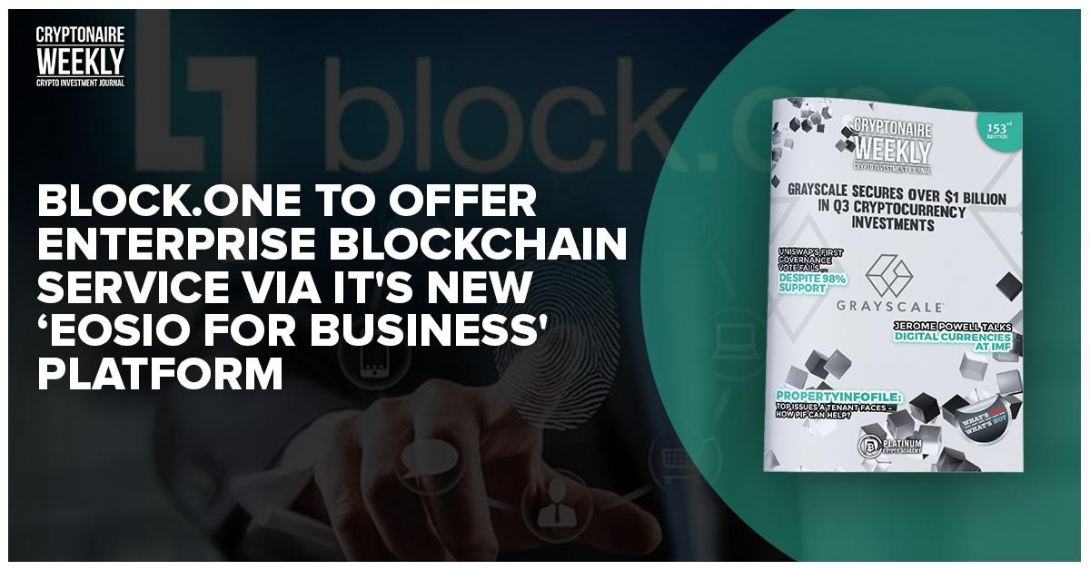 https://t.co/ECXxMjsO2D to Offer Enterprise Blockchain Service Via It's New 'EOSIO for Business' Platform #Blockchain #Cryptocurrency #EOS #Bitcoin #EOSIO  https://t.co/iQhsLK5hYD https://t.co/bv8BFvQB8A