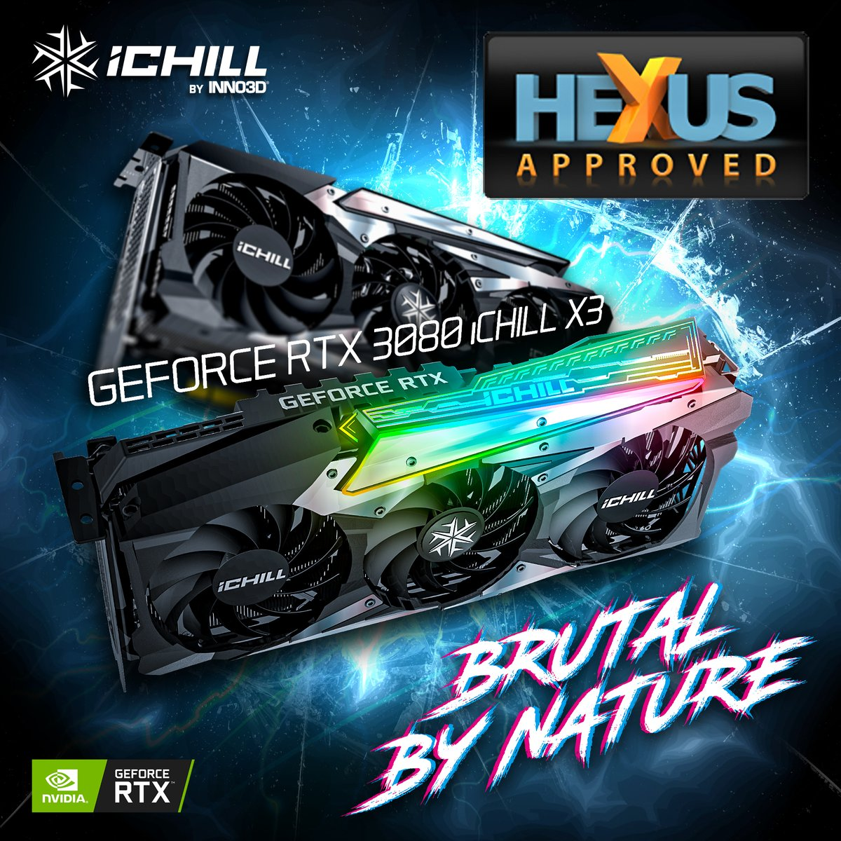 INNO3D GeForce RTX 3080 ICHILL X3 gets 'Approved' Award from Hexus! • Solid build quality • RGB looks good • Good value  #brutalbynature #inno3d #ampere #geforce #rtx #rgb #ichillx3 #ichill #tailfin #award https://t.co/pT6fBTvXk3