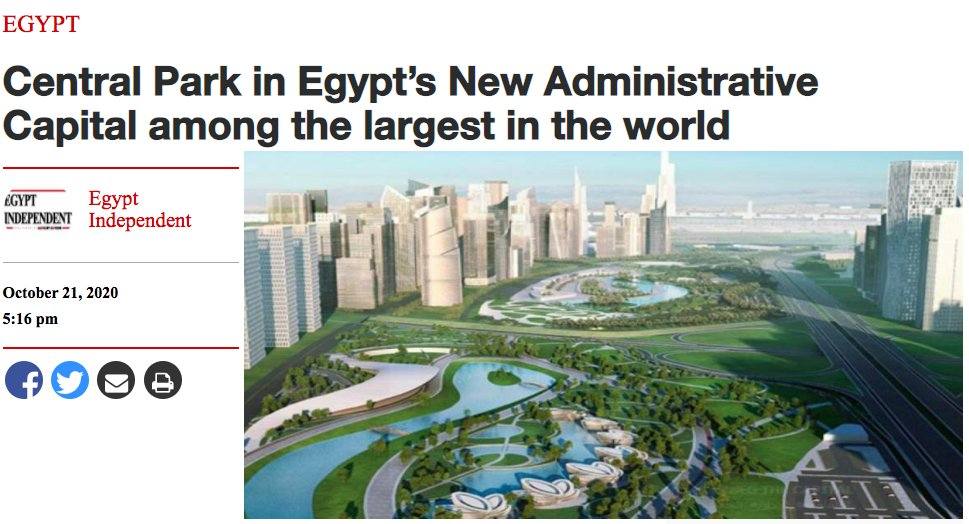 IF you are still wondering why #Egypt and #Trump are opposing #GERD in #Ethiopia that would bring 💡 and be a source of water security to 65 mil. ppl   Luxury real estate🏌️🏾🛀🏾in the middle of the desert w/   #WORLD'S #BIGGEST #PARK fed with #Nile water !!!  https://t.co/xwtz7Lf4Y1 https://t.co/CJAf1ttQM2