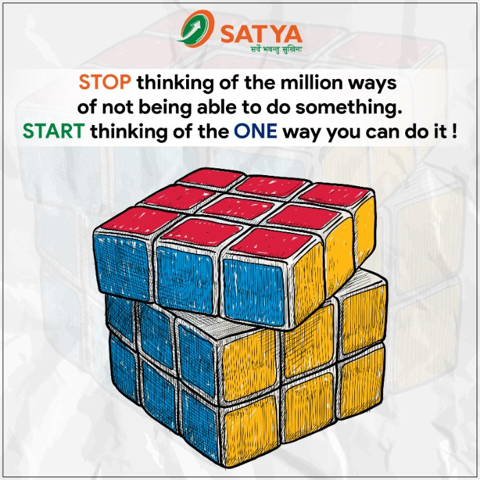 """Let #NOTHING stop you from doing #great things..""  #ThursdayThoughts #WeCanDoIt #TeamSATYA #empowerment #SATYAMicroCapitalLtd #Microfinance https://t.co/ymR9hcwuDn"