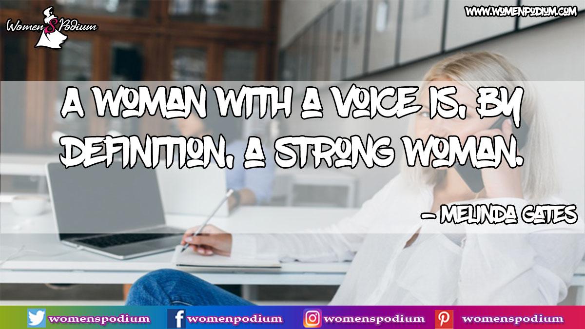 A woman with a voice is, by definition, a strong woman. ~Melinda Gates  #womenspodium #independentwoman #strongwomen #independent #womenempowerment #bossbabe #motivation #bosslady #entrepreneur #women #girlpower #selfcare #beautiful #strongwoman #girlboss #businesswoman #success https://t.co/R61hFjkzQi