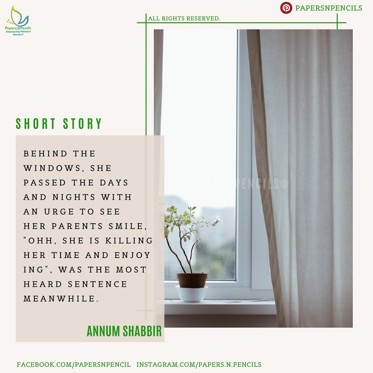 Short Story All Rights Reserved. No body is allowed to share our personal data with his/her name.  #papersnpencils #E_magazine #shortstories #Storia #Happiness #Windows #ThursdayMotivation #thursdaymorning #WritersCafe #feminism #storymagazine https://t.co/0nGzb9uJlI