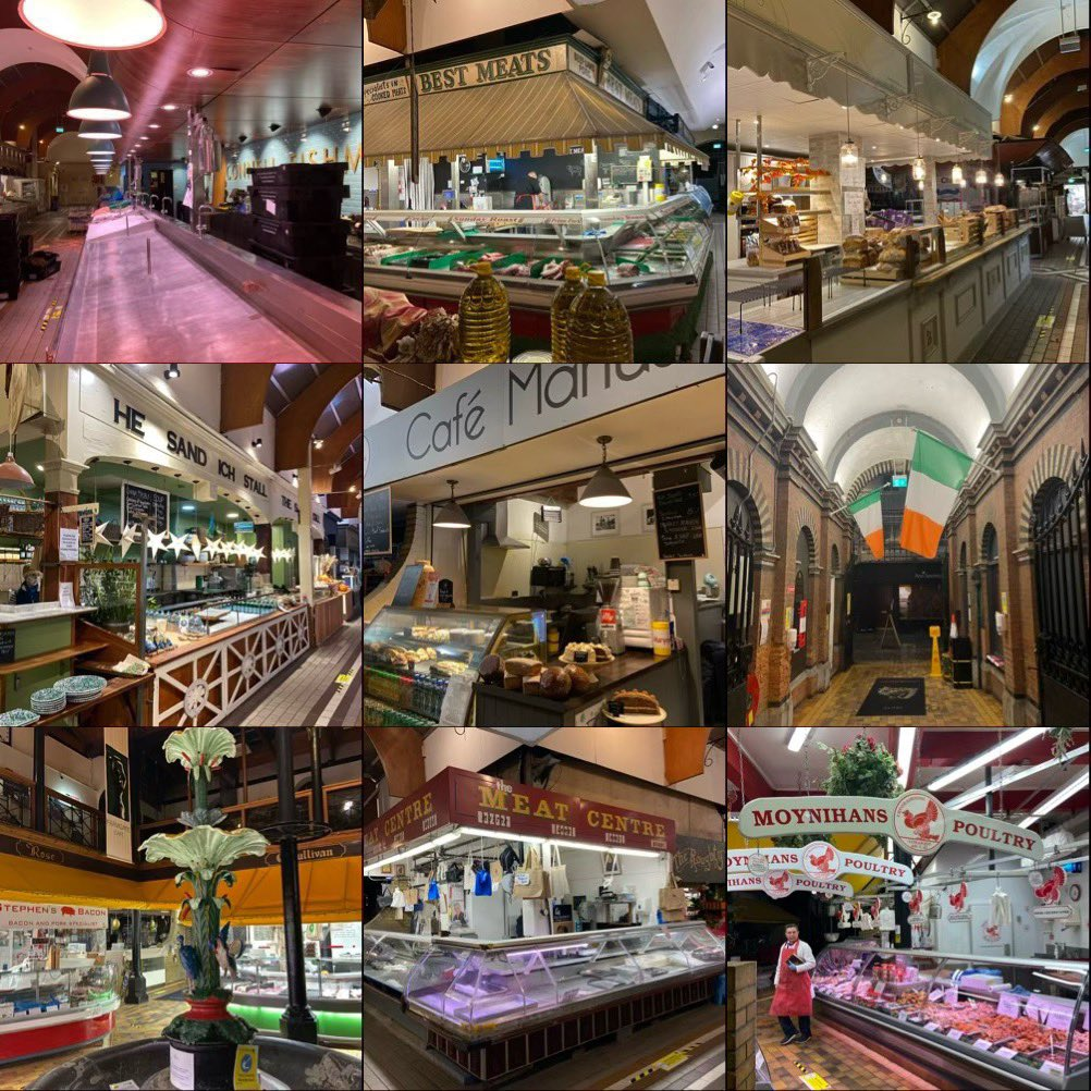 Good morning! Early photo shoot @EnglishMarket Traders are here to serve our city since 1788. If you can't do your essential shopping most of us have delivery options, click and collect and @Deliveroo_IE  #cork #CorkCity #supportbusiness #level5 #IrelandLockdown https://t.co/69Bp28ctsQ