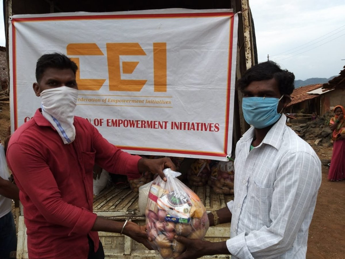 In previous weeks, CEI provided food provisions sufficient for 1 month to Kushiram ji from village of Kamtekarvadi, belonging to Below Poverty Line, Katkari tribe. He is looking after his children alone. His hut was destroyed in #CycloneNisarga.  #CEIReliefInitiative https://t.co/uLzngh8E7Q