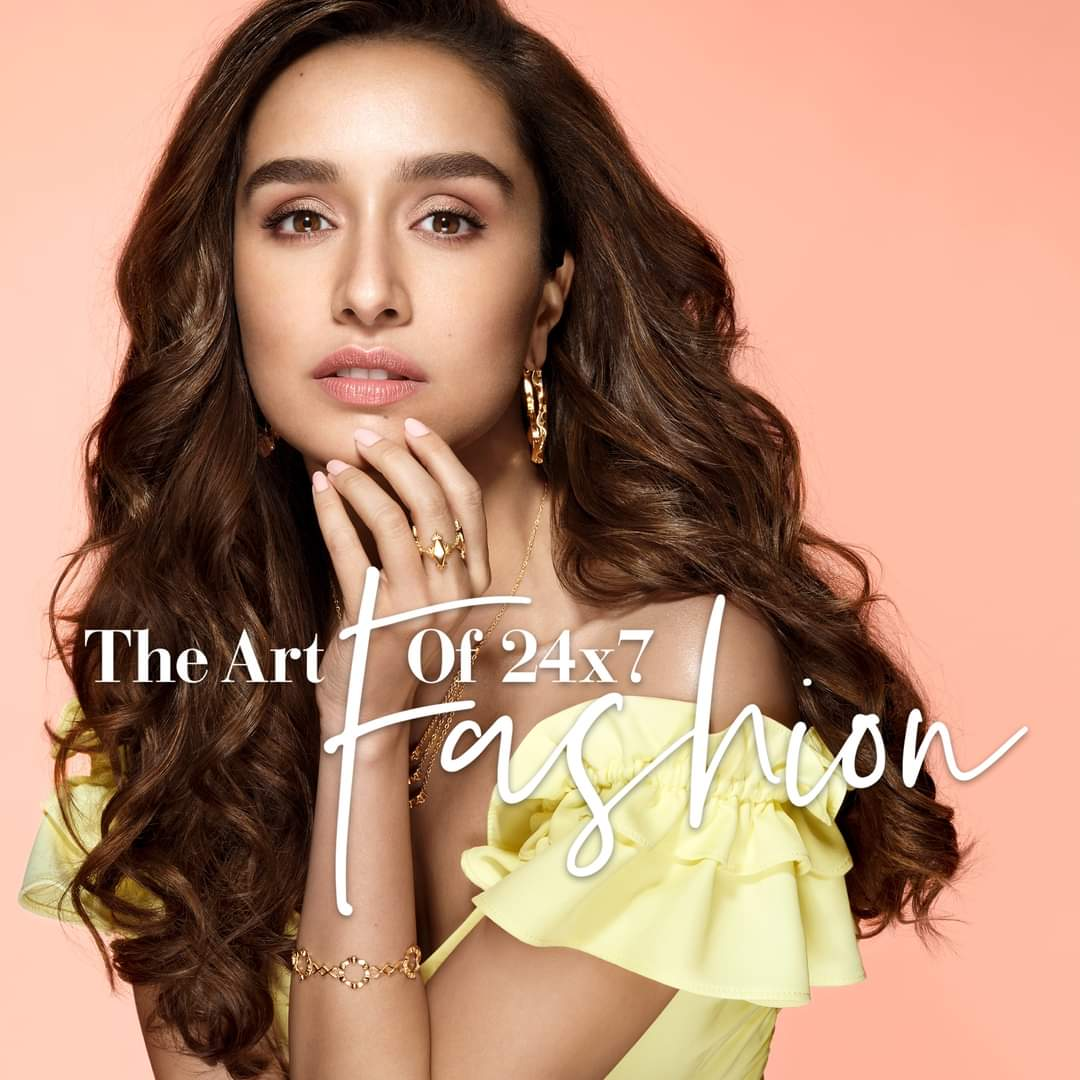 Repost from - @Melorra_com Gold jewellery, now made for your fashionable everyday. From Sunday afternoons to Friday nights - Melorra is your new trendy companion day-in and day-out. Like #ShraddhaKapoor, live the #ArtOf24x7Fashion 🧡  Shop Now >   #Melorra