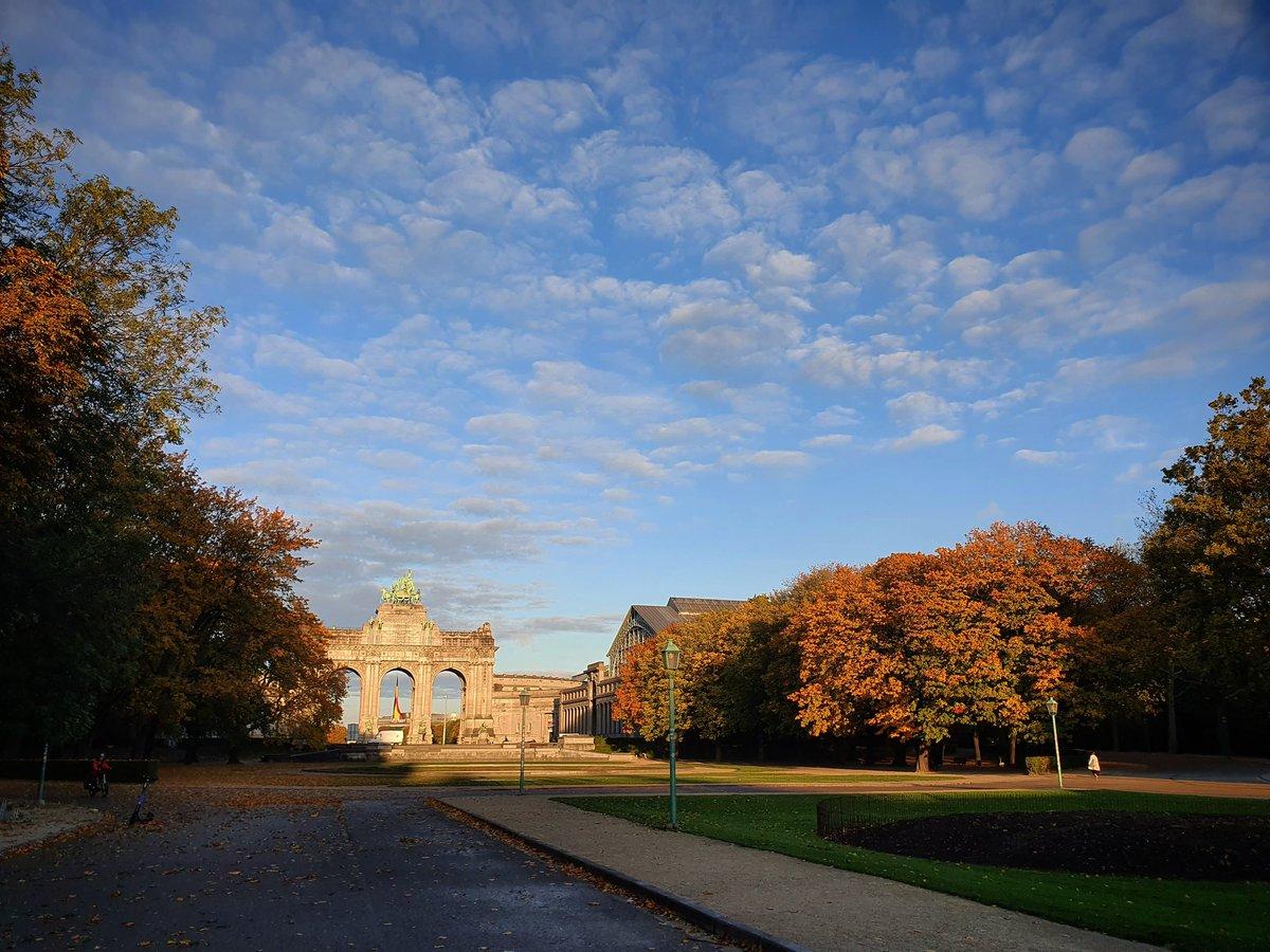 Beautiful morning is beautiful.  #Autumn #cinquantenaire #jubelpark https://t.co/2HTBmR0Uzs