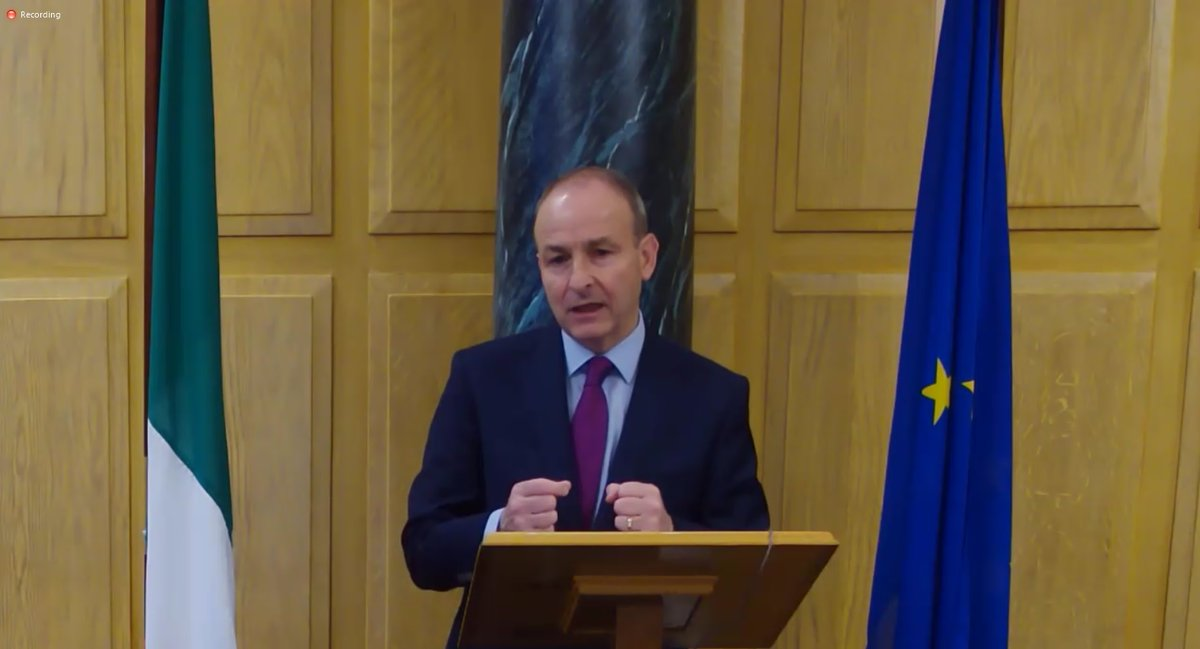 An Taoiseach @MichealMartinTD addressesing the @CorkChamber Business Breakfast talking about Covid-19 and Cork flooding. https://t.co/pGaNk4l2fK
