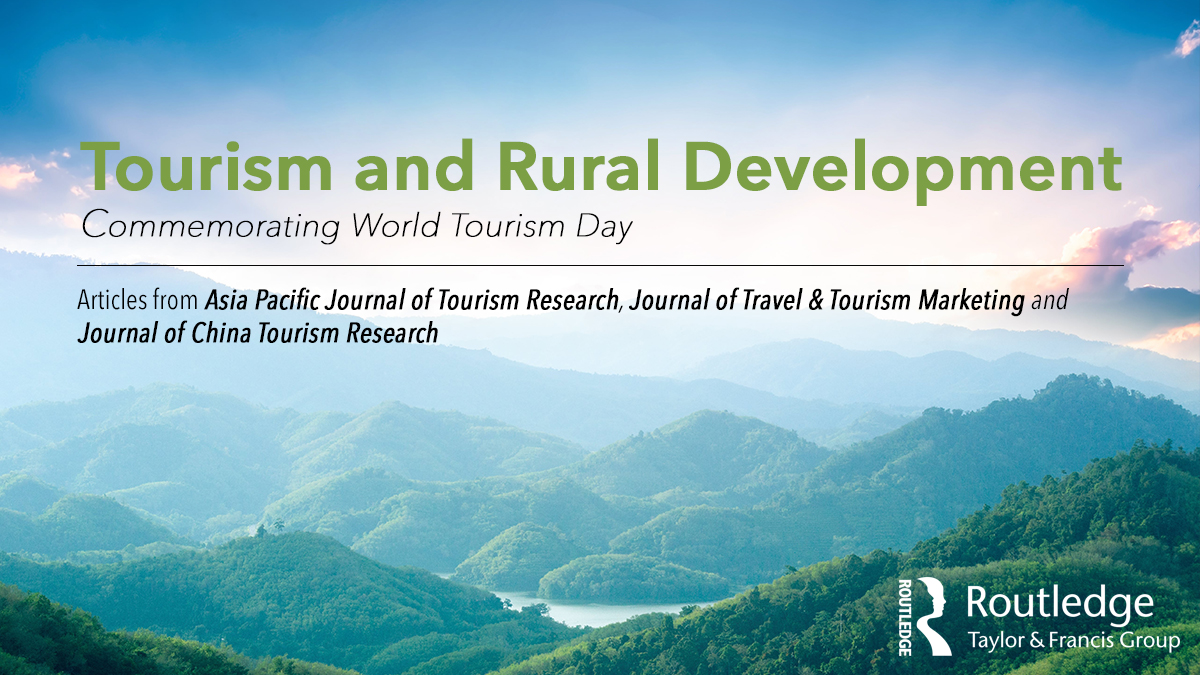 "Routledge is proud to have our tourism journal editors featured at the #APacCHRIE2020. Browse a special article collection Titled 'Tourism and Rural Development"" created in line with #WTD2020. Explore this collection here https://t.co/rWo36315D8 https://t.co/D3A8Sivers"