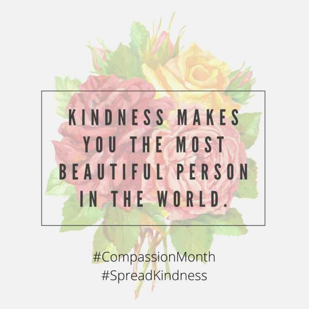#CompassionMonth #SpreadCompassion #SpreadSmiles #SpreadKindness https://t.co/6ZK64ZOOXG