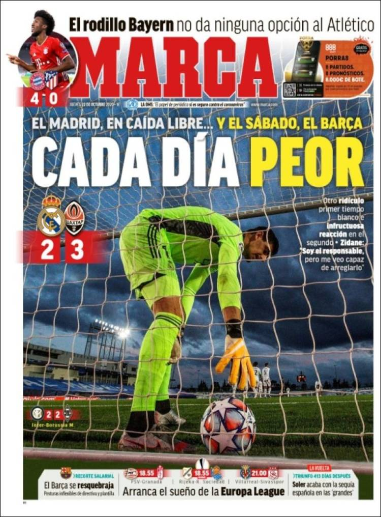 MARCA https://t.co/uIVgKp8tsM #r2p #Marca #Football #Espana #News #SergioMattarella #GiuseppeConte #Italie #Italy #Zidane #Coronavirus #Virus #Football #FIFA #Nadal #Covid #JoaoFelix #F1 #Ferrari #Madrid #PSG #Sainz #Messi #Griezmann #Barcelona #MBappé #Neymar #Liga #Suarez https://t.co/5veUputD6b