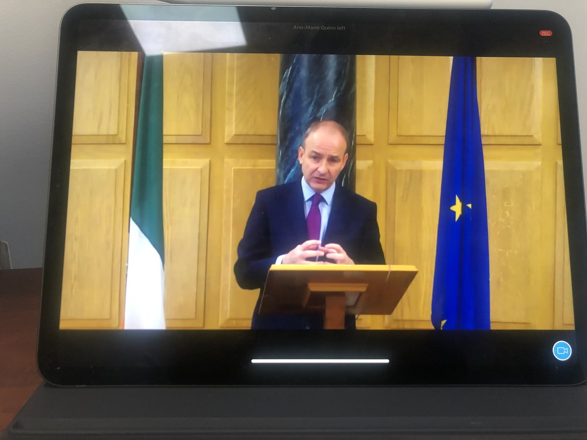 Thank you to An Taoiseach @MichealMartinTD for his time this morning on our @CorkChamber call. In particular, I'd like to acknowledge his words about the hospitality industry and the various measures he has taken to try and protect jobs and livelihoods to date.  @TrigonHotels https://t.co/UVvgQCW5jF