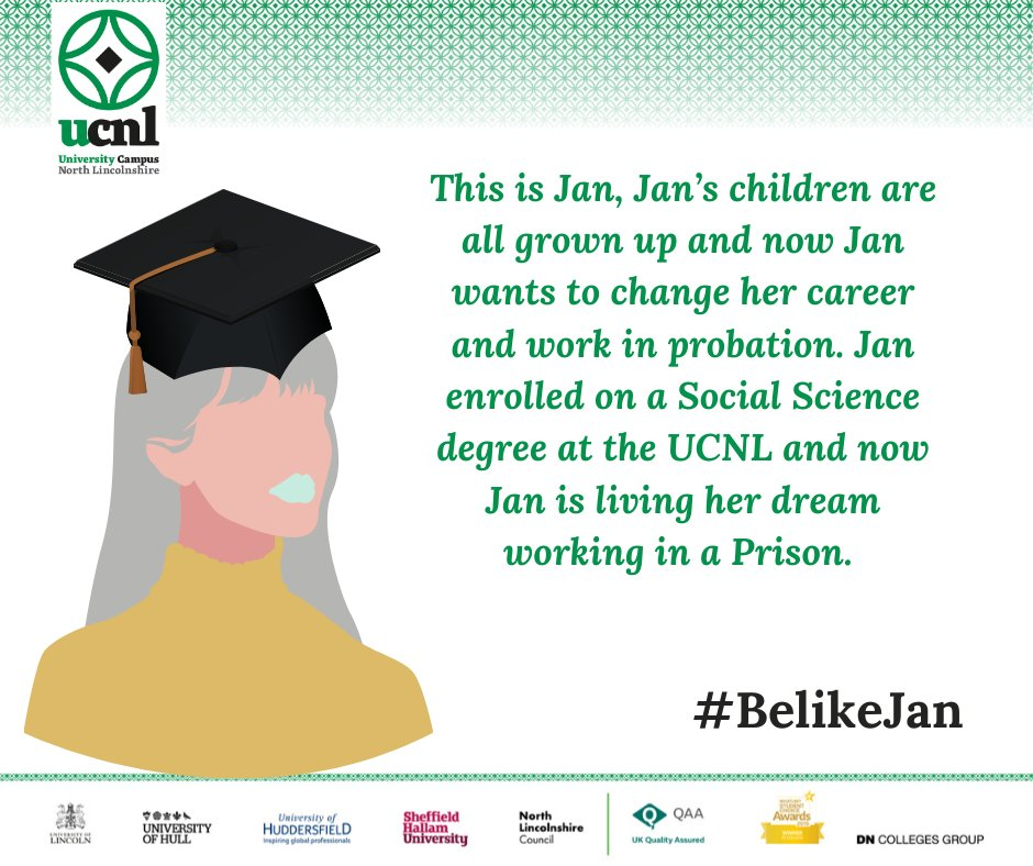 It's still not too late to enrol for this academic year, so you too can #BelikeJan #weareUCNL #whatsstoppingyou #futureself #Epicinthree https://t.co/OA9j3muDPz