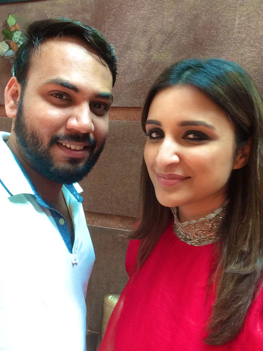 Happy birthday chiller @ParineetiChopra! From our Gujarat road trip to delayed coffee meetings, you have been constant! Have a great one, god bless ♥️  #HappyBirthdayParineetiChopra