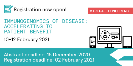 Are you an early career researcher working in #immunogenomics?  Submit an abstract for #Immuno21 and share your valuable insights with leading scientists and clinicians, on a global virtual platform.   ⏰D/L 15 Dec: https://t.co/PteCYUNlt4 #Immunotherapy https://t.co/n5qDUctnSb