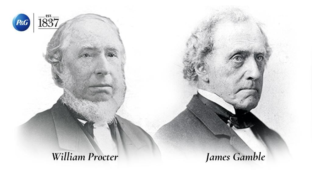 """Procter & Gamble on Twitter: """"We're debuting our #PGHeritage series with a  #throwback to our two founders Mr. William Procter & James Gamble. These  brothers-in-law turned business partners founded P&G in 1837"""