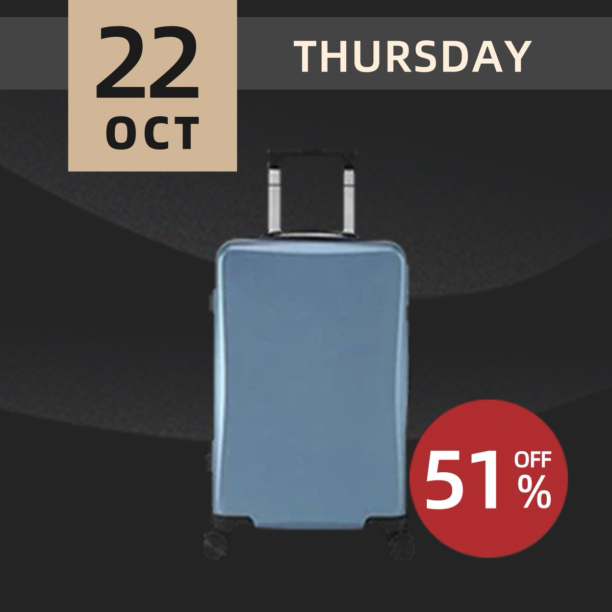 ⚡FLASH SALE⚡ Light and wear-resistant, suitable for short trip. Shop before it is gone at https://t.co/PuLLtLDesW .  #lifease #lifeaseproducts #privatelabel #luggage #suitcase #travelluggage #traveling #onboardsuitcase #onboard #beautifuldestinations #darlingescapes https://t.co/tTgCvvkRv5