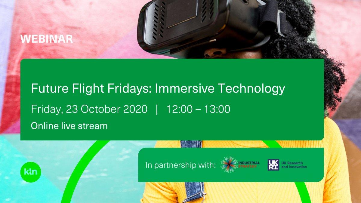 Going live at 12pm for the @KTNUK #FutureFlight Friday webinar focusing on #immersivetech with:    @enjoychang, Extend Robotics Wanda Manoth-Niemoller, @AFIKLMEM   @mooberryj, Mooberry Consulting  Register here: https://t.co/228VgaQhsv  @ImmerseUK_ #XR #VR #AR #aviation https://t.co/19aumjDg1y