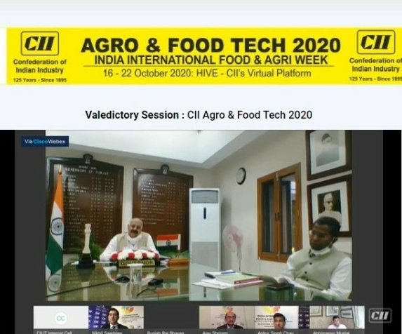Participated in the #ValedictorySession of Agro & Food Tech 2020, I heartily compliment #CII for organizing such a massive successful online weeklong  14th edition of #AgroTech which  was attended by many stakeholders including 75000 farmers https://t.co/B5Ftz9Vfbo