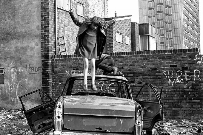 Tish Murtha (1956-2013), social documentary photographer who photographed marginalised communities under Thatcher in North East England #womensart