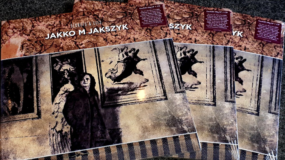New this Friday from @insideouteu... @JakkoJ M Jakszyk Secrets & Lies ...the King Crimson guitarists new album features Robert Fripp, Gavin Harrison, Tony Levin and Mel Collins as well as guest appearances by John Giblin, @markking @Sofa_sound and *checks notes* @almurray.