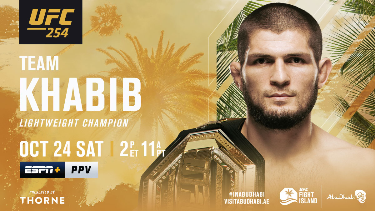 The most dominant champion in UFC history 🏆  RT if you're w/ @TeamKhabib at #UFC254   [ B2YB @Thorne_Research ] https://t.co/ClQMNGE7cZ