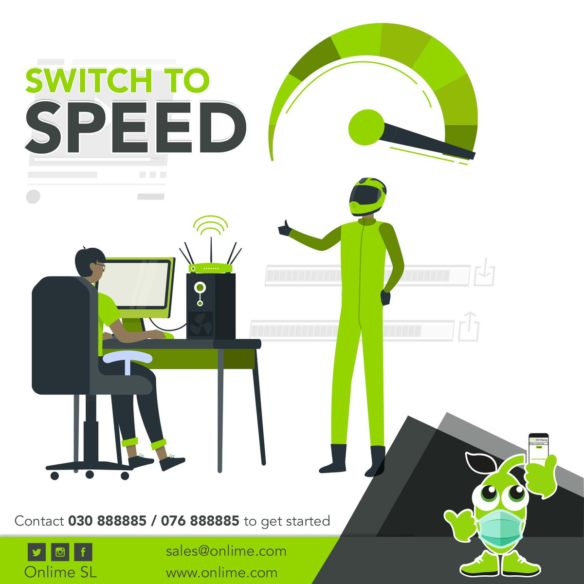 Switch to #onlime internet today and say goodbye to slow connection. Enjoy uninterrupted streaming at Super-Fast Speeds with #OnlimeInternet Call 076 888885 / 030 888885 or email sales@onlime.sl for more info. #SierraLeone #Freetown #SaloneTwitter https://t.co/JrtWpuMjoC