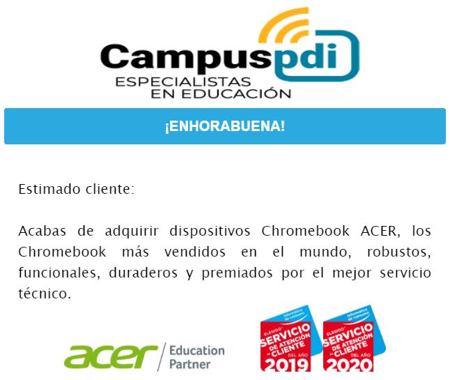 #retosuperado el pasado mes de Septiembre hemos realizado la entrega de chromebooks @Acer_Education a todos los colegios y gracias a vuestra confianza y paciencia., nuestra principal prioridad son ustedes los colegios y siempre haremos nuestro mejor esfuerzo. https://t.co/88KbddjREC