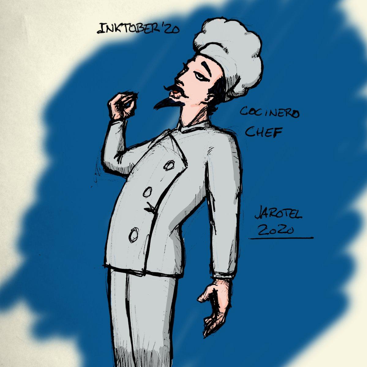 #inktober2020 Día 22 cocinero / chef #inktober #inktoberchallenge2020 #inktober2020day22chef #ballpenart #ballpen #digitalcolor #colordigital https://t.co/TgYb0qudbh