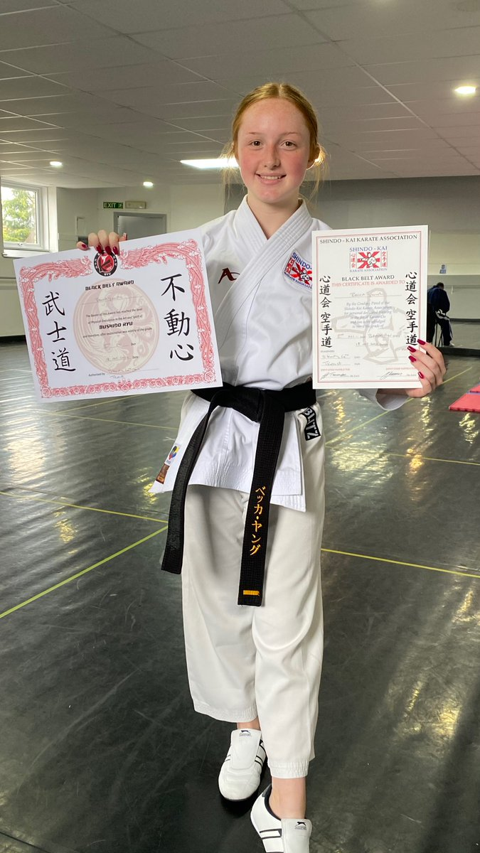 Congratulations to one of our Y12 students, Rebecca who graded for her 2nd Dan in Bushido Ryu Karate at King's Karate Club and passed with a Distinction 🙅‍♀️! 1 of only 16 have made it into 2nd Dan since the style was established in Halifax in 1982!  What an achievement 👏