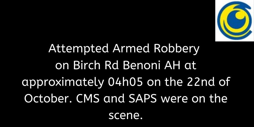 Crimebroadcast 2020-10-22 #CommunityRules #Safety  #proudlycms #Patrolling #Precincts #Ekurhuleni #Reaction #Closures https://t.co/iIxyQJY1iE https://t.co/zJ5O5R1bJK