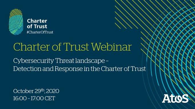 [#Webinar] 📆 On Thursday, 29th October, 16:00-17:00 CET, the Charter of Trust...