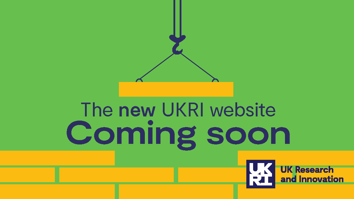 Coming soon: all your funding opportunities in one place, on our new-look UKRI website. Find out more: bit.ly/34jFGlC
