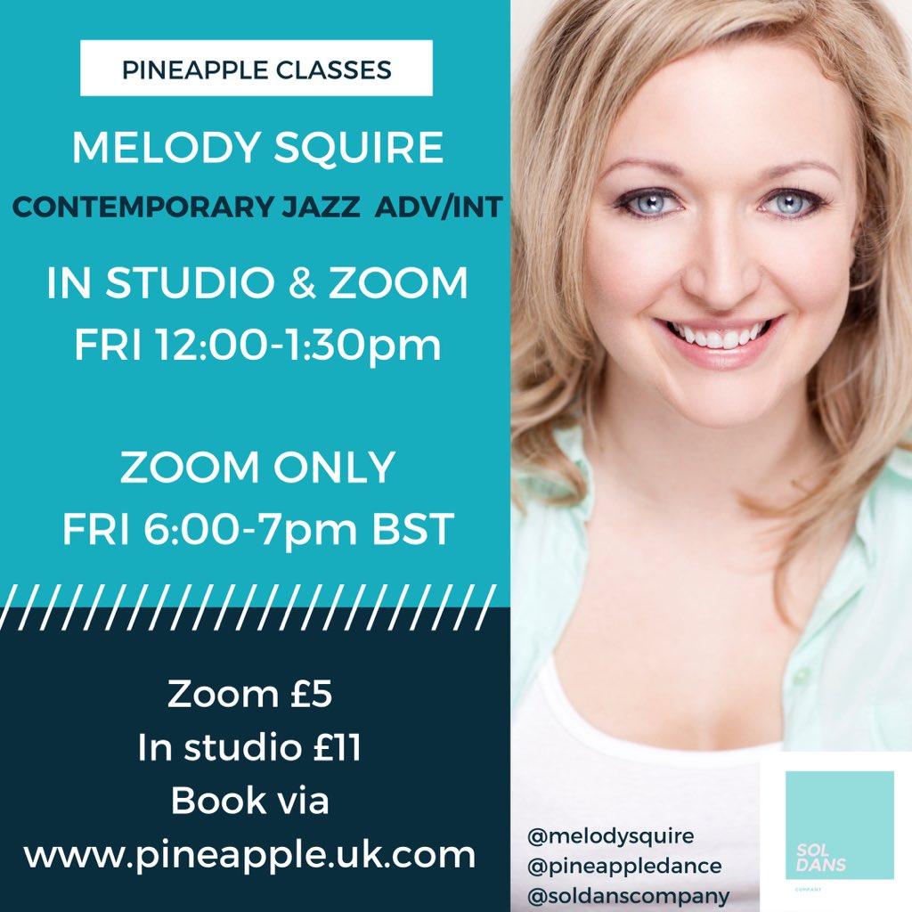 Teaching Contemporary Jazz (Adv/Int) Fridays 12-1:30pm @pineappledance in studio and live online. Fridays 6-7pm zoom online. Book via https://t.co/bbONvgdbbs  #dance #danceclass #choreographer #london #londondance https://t.co/9srbFM7v1h